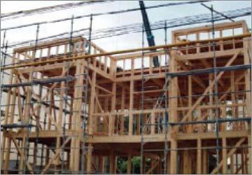 木造軸組 金物工法の説明画像