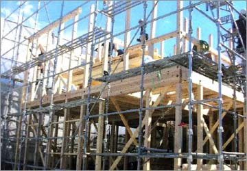 木造軸組 金物ハイブリッド工法の説明画像